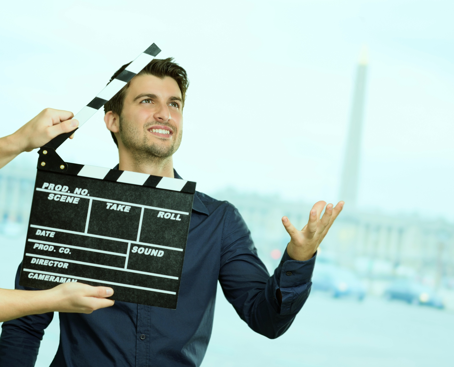 Director Clapping The Clapper Board