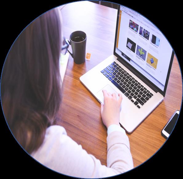 Circle - Working at laptop