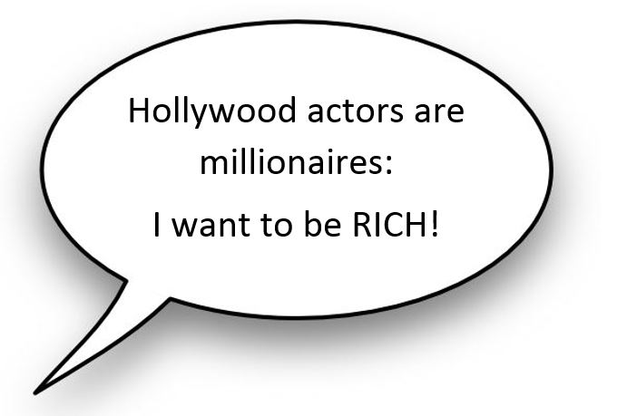 Speech bubble - I want to be RICH.JPG