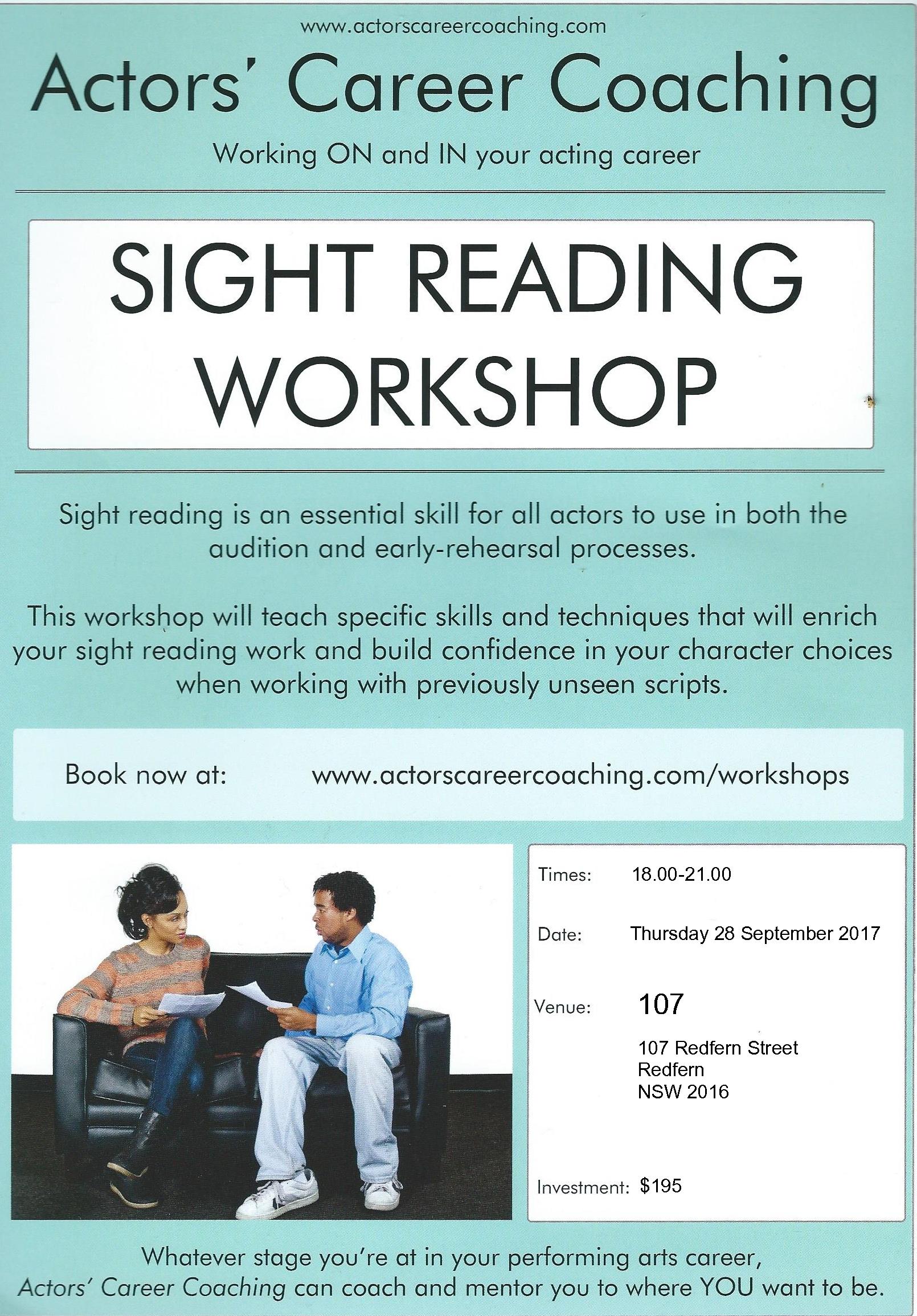 Poster - SIGHT READING workshop